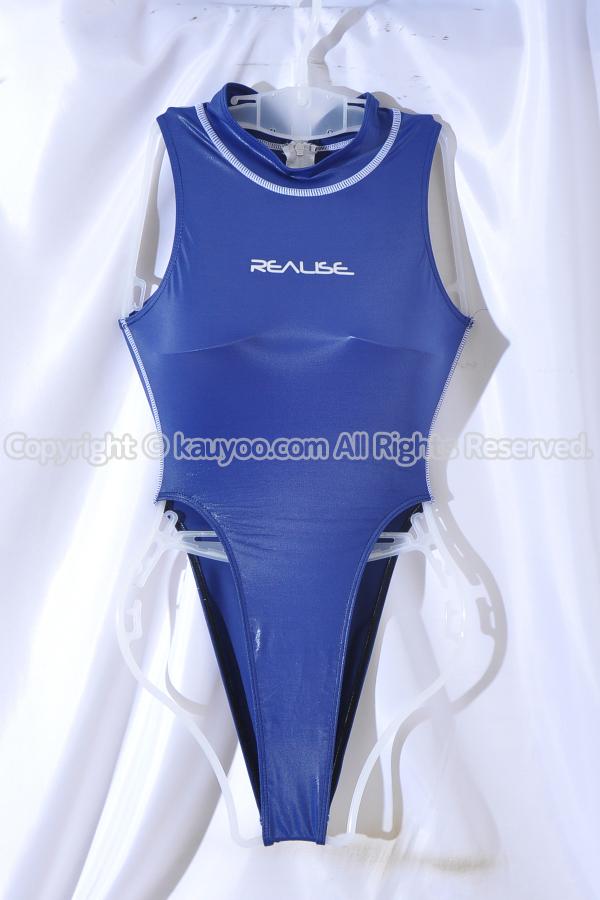 【買取】REALISE リアライズ 光沢ネイビーSSW素材 水球 ハイネック ハイレグ競泳水着 改