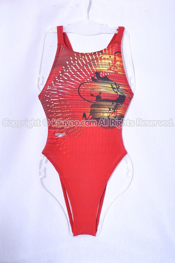 【買取】SPEEDO スピード アクアブレードΣ マーキュライン 赤龍柄 ハイレグ競泳水着