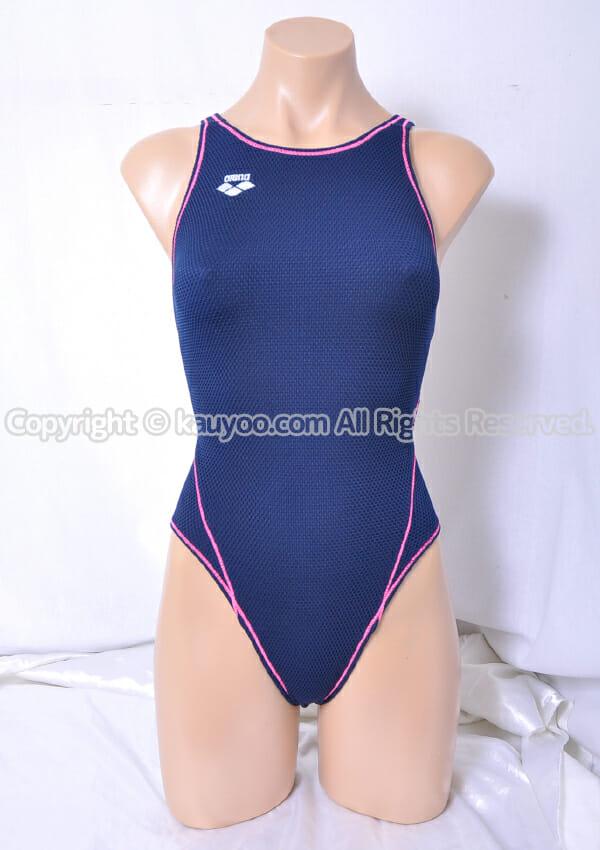 【買取】アリーナ タフスーツ SAR-8111W  トレーニング競泳水着 ネイビー×ピンクステッチ