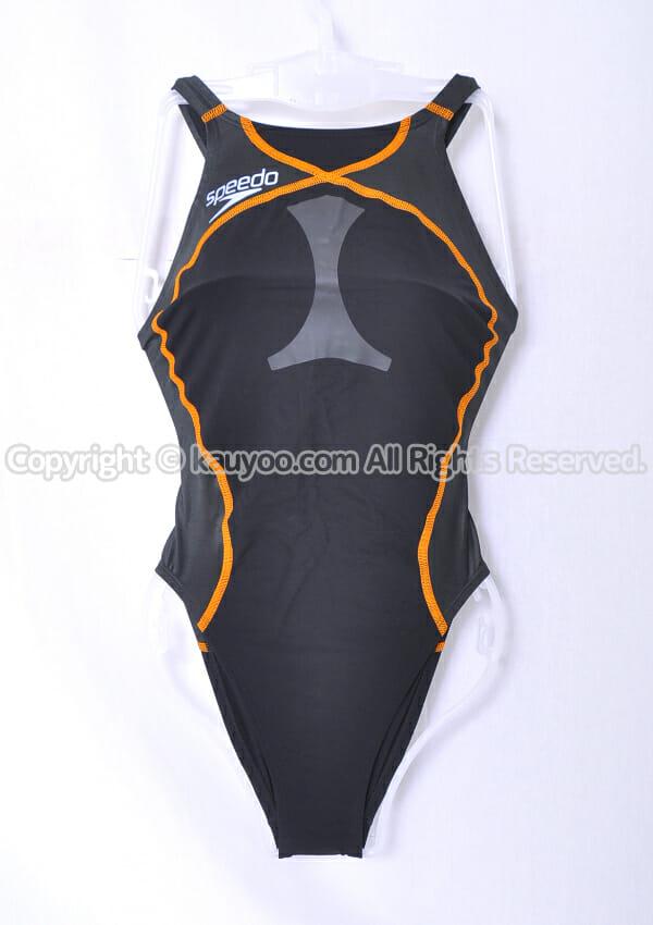 【買取】Speedo スピード flyingfish HYBRID ハイレグ競泳水着 SD48A51 黒×サンセット