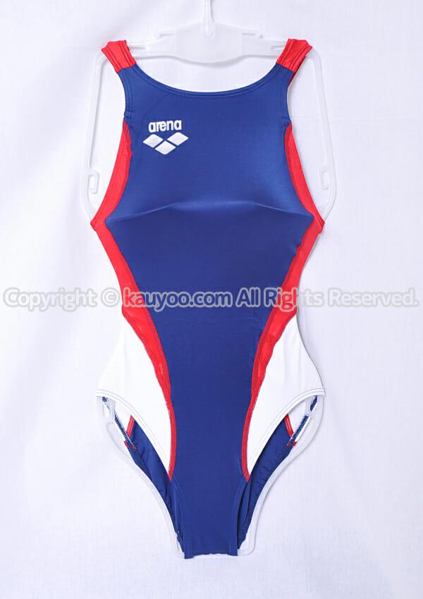 【買取】アリーナ nux ニュークス スイムテック21 競泳水着 ARN-7014WL ネイビー×赤白