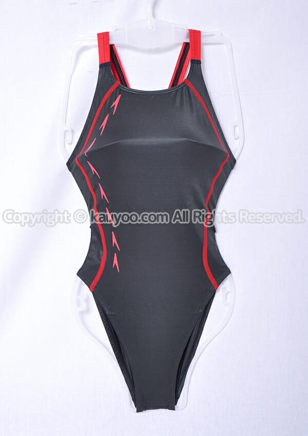 【買取】Speedo スピード flyingfish レースカットスーツ 競泳水着 SD48A11 黒×赤