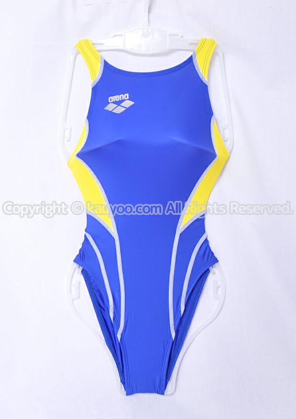 【買取】arena アリーナ nux-W リミック 競泳水着 FAR-9524WH ブルー×イエロー