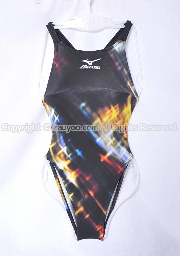 【買取】MIZUNO マイティライン ハイカットスーツ競泳水着 85OE-76295 黒×ゴールド