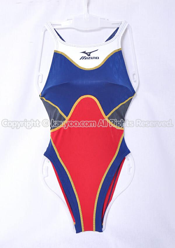 【買取】MIZUNO アクセルスーツ マイティライン ハイカットAS 競泳水着 85OD-78086 紺×赤