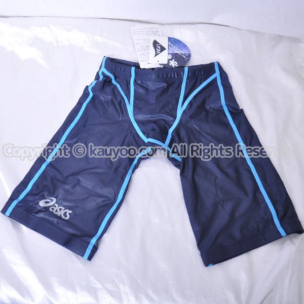 【買取】アシックス 旧ロゴ SPLASHER スプラッシャー AMA416 光沢スパッツ競泳水着 ネイビー