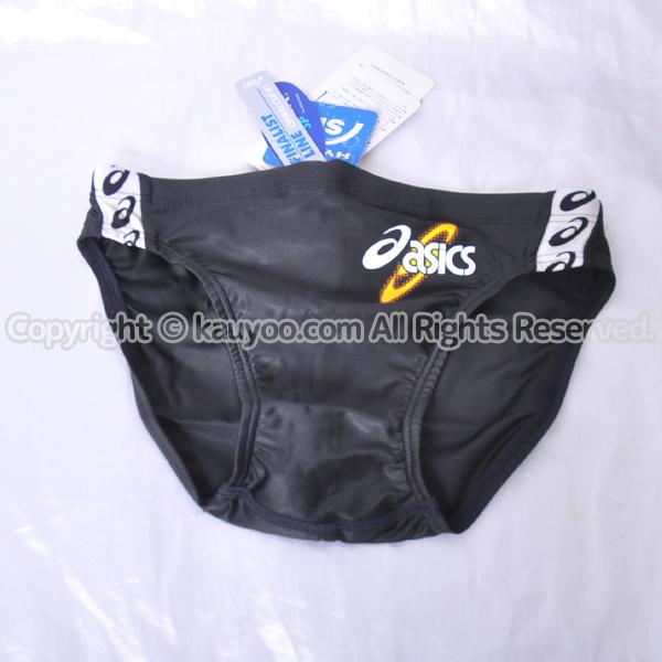 【買取】アシックス 初期ロゴ ハイドロSP AMA414 スパイラルカット2 光沢メンズビキニ競パン 黒