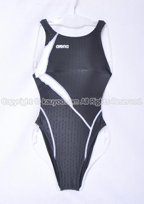 【買取】アリーナ nux-F ニュークスF リミック ハイレグ競泳水着 FAR-9535WH 黒白