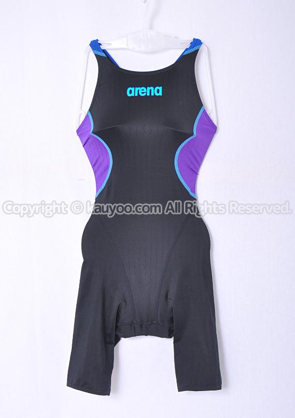 【買取】アリーナ X-PYTHON2 Fina承認 ハーフスパッツ競泳水着 ARN-7020WN 黒×紫