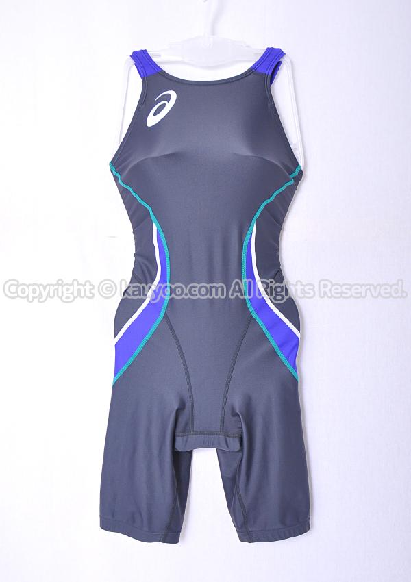 【買取】アシックス SPURTeX RACING LINE Fina承認 ハーフスパッツ競泳水着 ASL103 チャコール