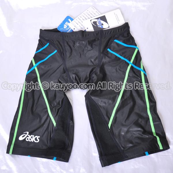 【買取】アシックス TLINER ハイドロSP AMA413 光沢ハーフスパッツ競泳水着 ブラック