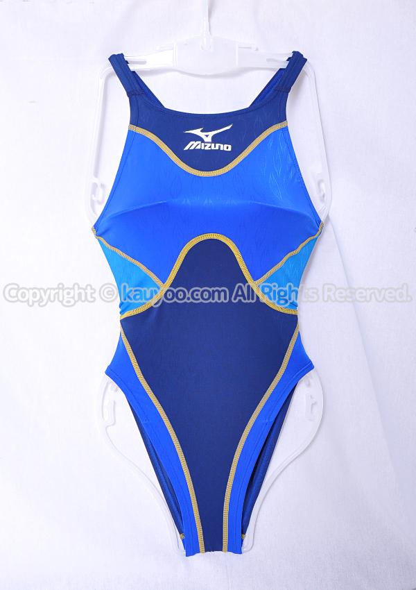 【買取】MIZUNO アクセルスーツ マイティライン ハイカットAS 競泳水着 ネイビー×ブルー