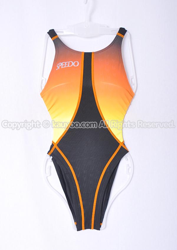 【買取】SPEEDO スピード fastskin ex ファーストスキンex 競泳水着 83OC-35297 黒XオレンジXイエロー