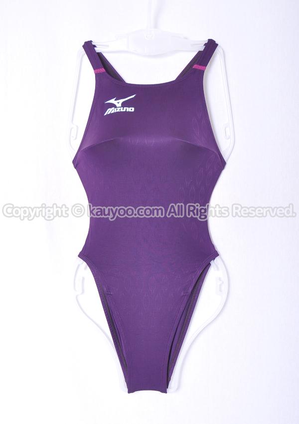 【買取】MIZUNO ミズノ  マイティライン ハイカット競泳水着 85OE-90067 パープル