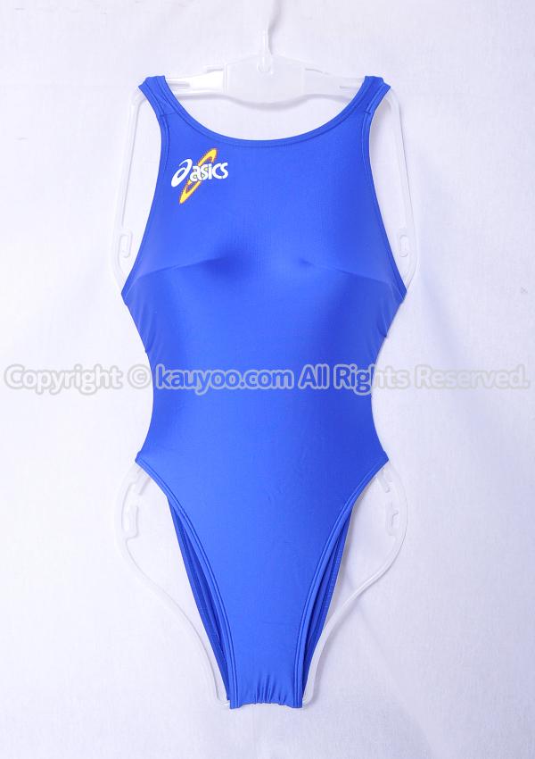 【買取】asics アシックス 初期ロゴ ハイドロSP ALS403 スパイラルカット2 ハイレグ競泳水着 ブルー