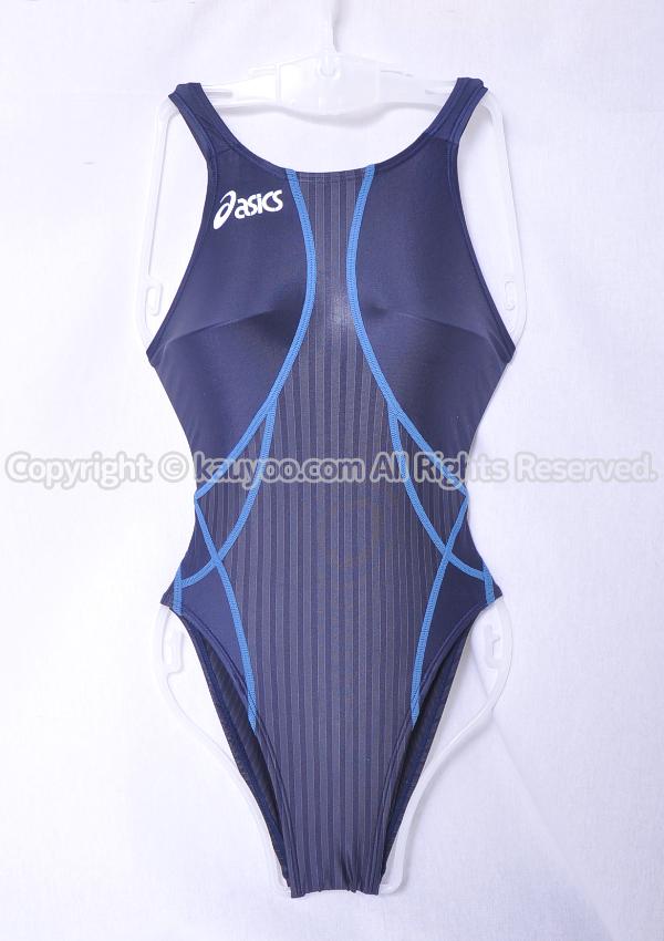 【買取】アシックス TLINER ZERO-ST ホールドカット ハイレグ競泳水着 ALS324 ネイビー