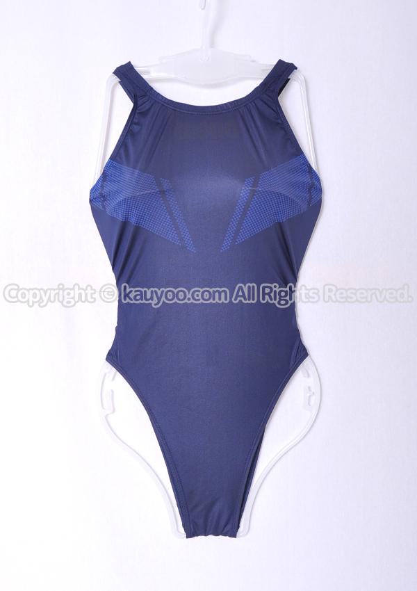 【買取】arena アリーナ X-FLAT エックスフラット ARN-0001W ハイカット競泳水着 ネイビー