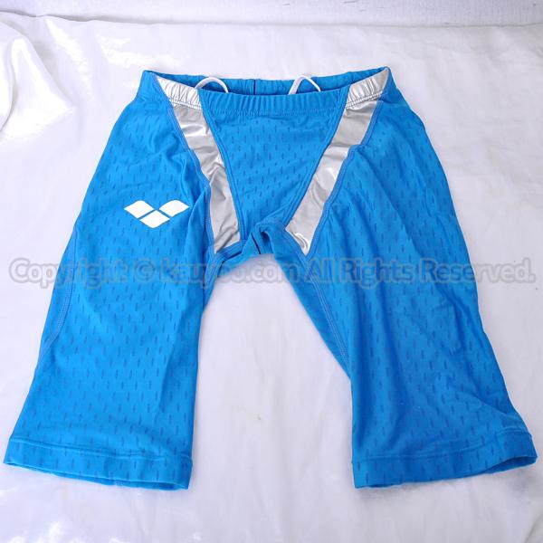 【買取】アリーナ aile-blue エールブルー ハーフスパッツ競泳水着 ARN-V4508 ターコイズ×シルバー