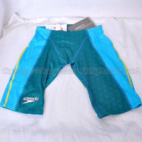 【買取】speedo スピード Fastskin FS2 メンズスパッツ競泳水着 83RC-50733 エメラルド×ターコイズ