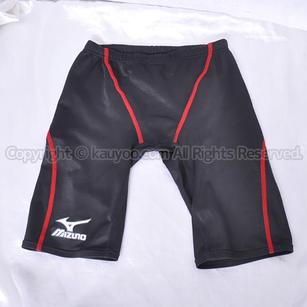 【買取】Mizuno ミズノ MIGHTY LINE II マイティライン2 85RE-100 メンズスパッツ競泳水着 黒赤