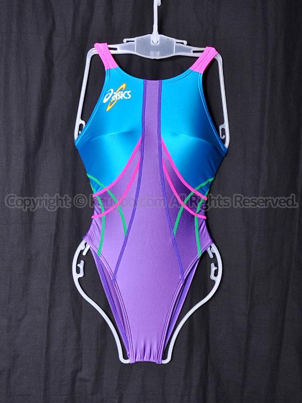 【買取】asics アシックス 初期ロゴ ハイドロSP TLINER ALS09S 競泳水着 ターコイズ×モーヴ×ピンク
