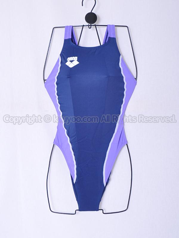 【買取】arena アリーナ 初期NUX ニュークス リミック 光沢ハイレグ競泳水着 ARN-5041W NVLI