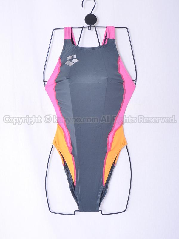 【買取】arena アリーナ 初期NUX ニュークス リミック 光沢ハイカット競泳水着 ARN-7014WH RGPO