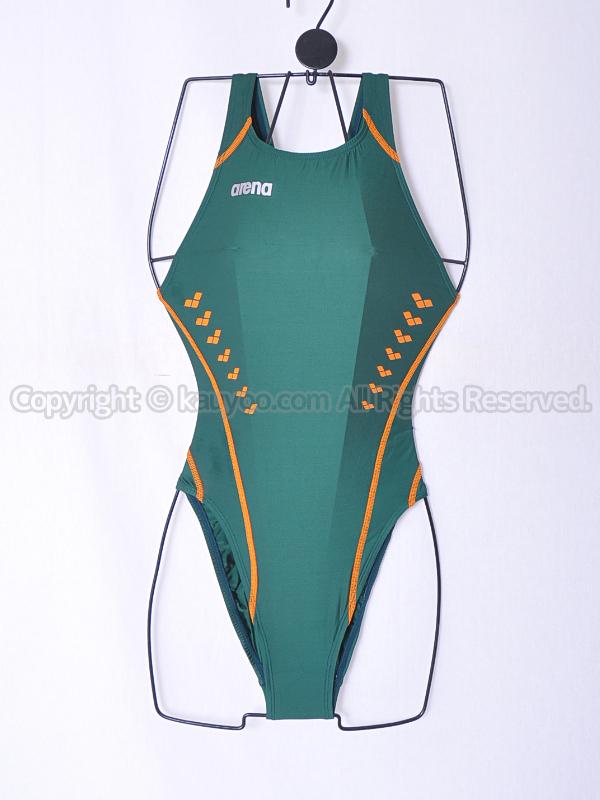 【買取】arena アリーナ nux-W ニュークスW リミック ハイカット競泳水着 ARN-9016WH GROG