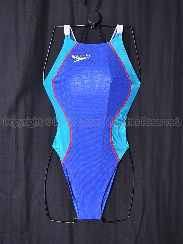 【買取】speedo スピード ファーストスキンFS2 ハイカット競泳水着 83OC-50572 Rブルー×ターコイズ×白