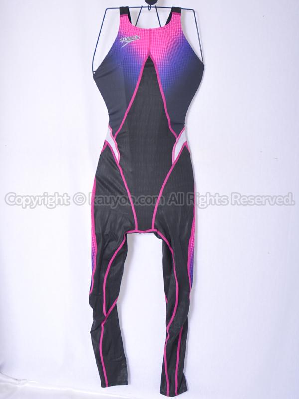 【買取】スピードspeedoアクアブレードシグマスター83OD-70097ロングジョン競泳水着ブラック×ローズ