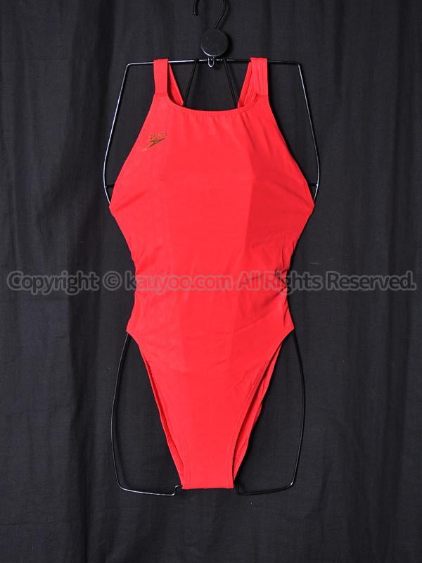【買取】旧SPEEDOスピード83OE-30562アクアブレードWマーキュライン競泳水着レッド金ロゴ