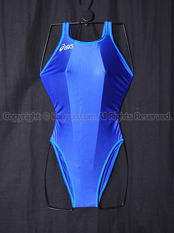 【買取】asicsアシックスSPLASHERスプラッシャーALS415ホールドカット競泳水着ブルー