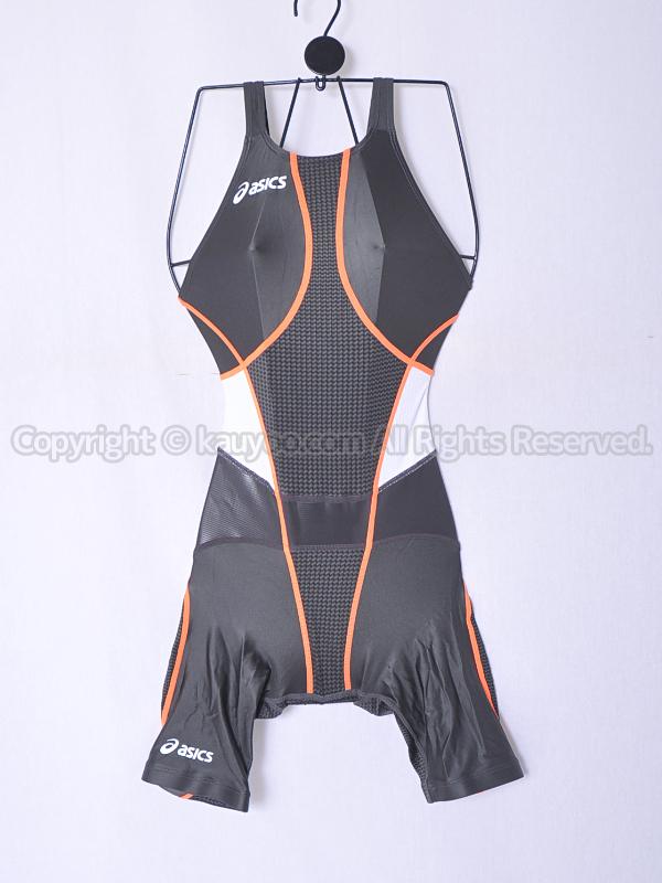 【買取】asicsアシックスTOP iMPACT LINEトップインパクトラインALS502ハーフスパッツ競泳水着ガンメタ