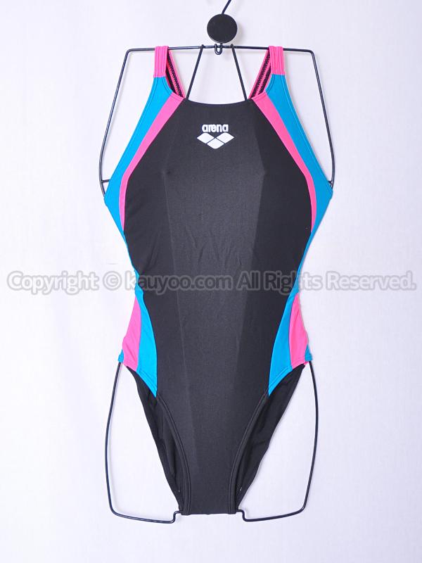 【買取】アリーナarenaストラッシュリミックCAR-8024Wハイカット競泳水着ブラック