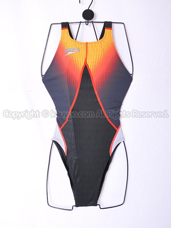 【買取】スピードspeedoアクアブレードシグマスター83OD-70296ハイカット競泳水着ブラック×レッド