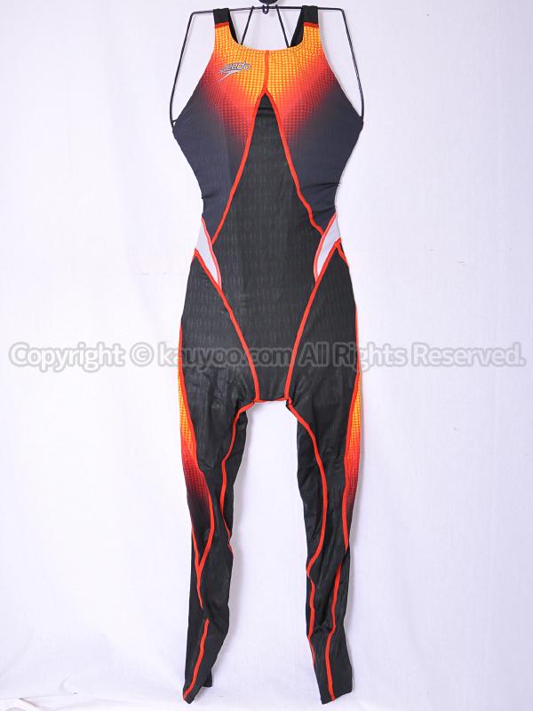 【買取】スピードspeedoアクアブレードシグマスター83OD-70096ロングジョン競泳水着ブラック×レッド