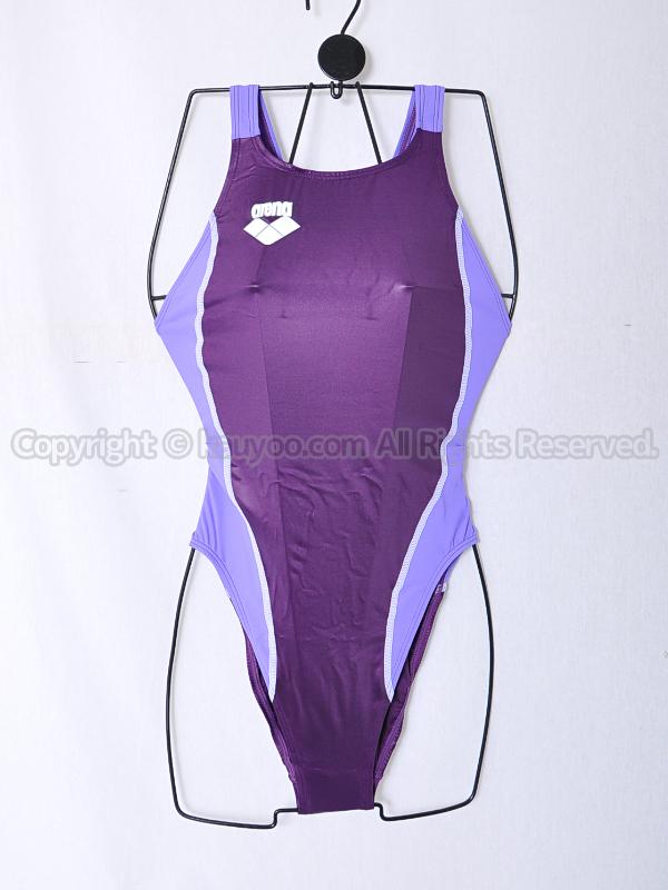 【買取】arenaアリーナ初期NUXニュークスARN-5041Wリミック光沢ハイレグ競泳水着DPLI