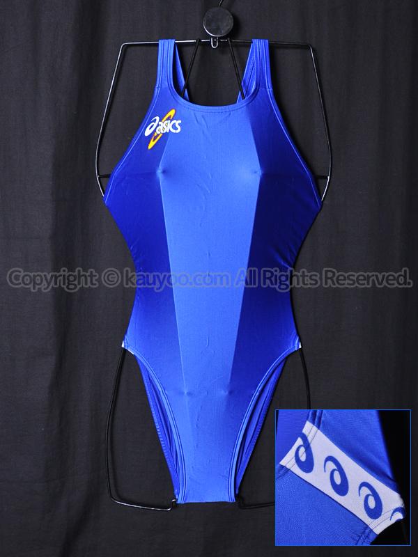 【買取】asicsアシックス初期ロゴALS414ハイドロSPスパイラルカット2ハイレグ競泳水着ブルー