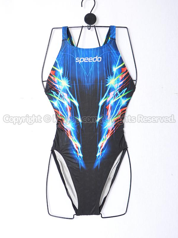 【買取】スピードspeedoアクアブレード2アクセライン競泳水着ブラックライン柄