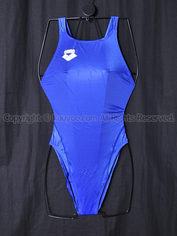 【買取】arenaアリーナ初期NUXニュークスARN-4006Wリミック光沢ハイレグ競泳水着ロイヤルブルーRYL