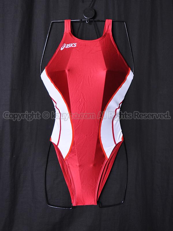 【買取】asicsアシックスSPLASHERスプラッシャー初期モデルALS419光沢ハイカット競泳水着エンジ