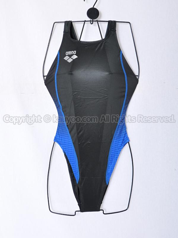 【買取】arenaアリーナ初期NUXニュークスFAR-5524WHリミック光沢ハイレグ競泳水着BBLU