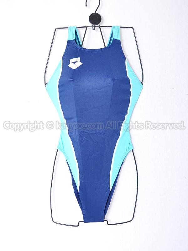 【買取】arenaアリーナ初期NUXニュークスARN-5041Wリミック光沢ハイレグ競泳水着NVMT