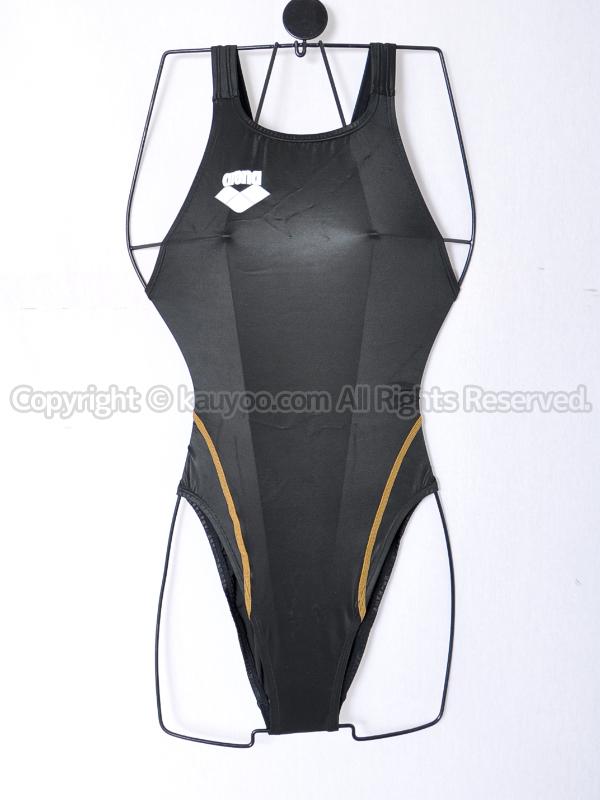 【買取】arenaアリーナ初期NUXニュークスARN-V4006Wリミック光沢ハイレグ競泳水着BKGD