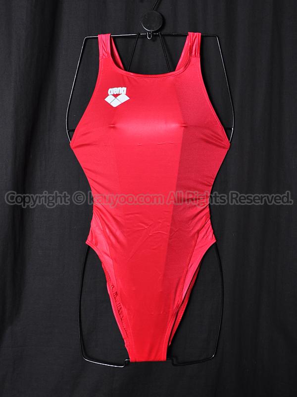 【買取】arenaアリーナ初期NUXニュークスARN-4006Wリミック競泳水着RED光沢レッド