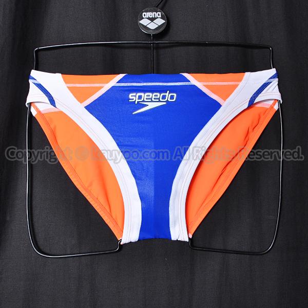 【買取】speedo Fastskin XT-W切替ショートブーン競パン競泳水着SC41921Nブルー×クリアサンセット