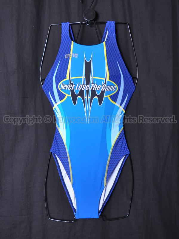 【買取】arenaアリーナnux-DニュークスDスイムテック21競泳水着FAR-6506WLブルーBLU
