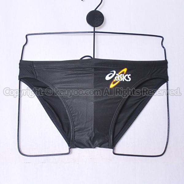 【買取】asicsアシックス初期ロゴAMA403ハイドロSPスパイラルカット2競パン競泳水着ブラック
