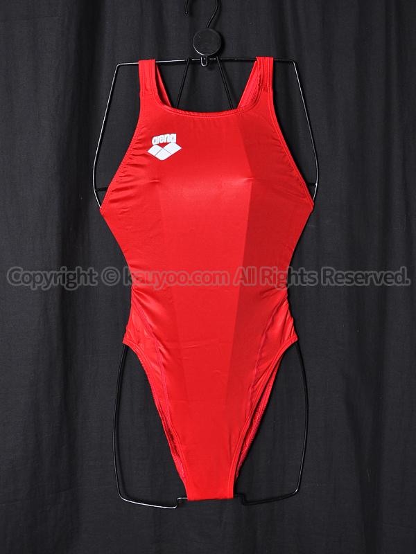 【買取】アリーナarena初期NUXニュークスARN-V4006Wリミック光沢競泳水着RRED赤