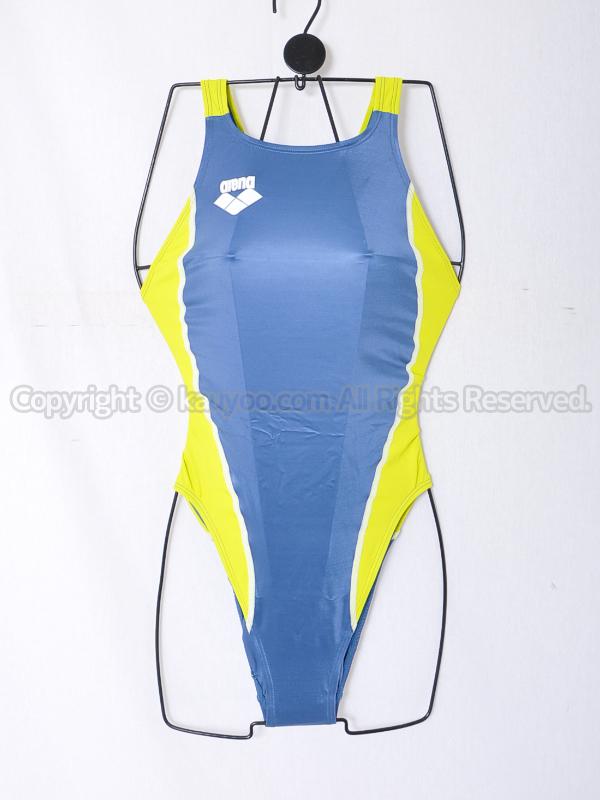 【買取】アリーナ初期NUXニュークスARN-5041Wリミック光沢ハイカット競泳水着GSKG